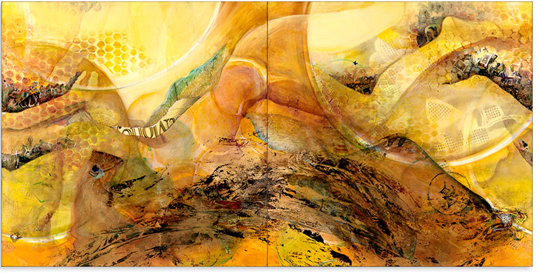Artwork: Amber Waves - Horizontal 2 - 72 x 36 in.
