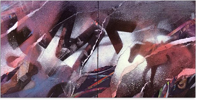 Artwork: Daily Series: Spring into Summer - Daily Diptych - 12 x 6 in.