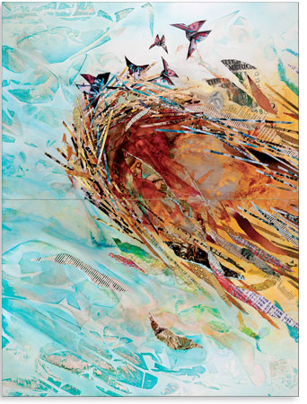 Artwork: Leaving the Nest - Vertical 1 - 72 x 24 in.